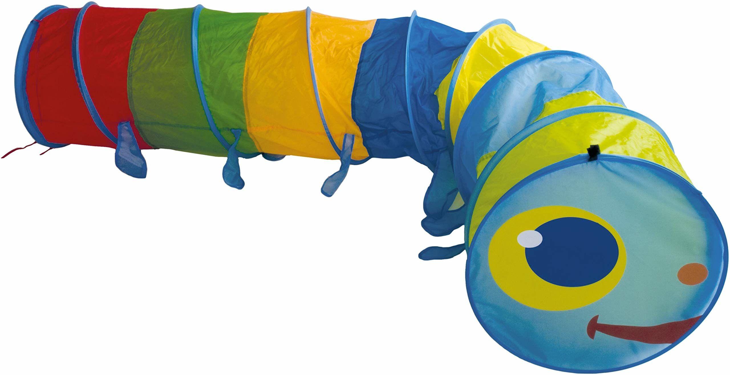 Bieco 22000008 - długość gąsienicy raczkującej około 2:50 m, wielokolorowa