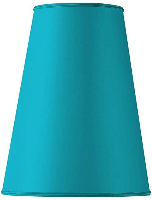 Klosz lampy w kształcie bistro, 25 x 13 x 37 cm, turkusowy