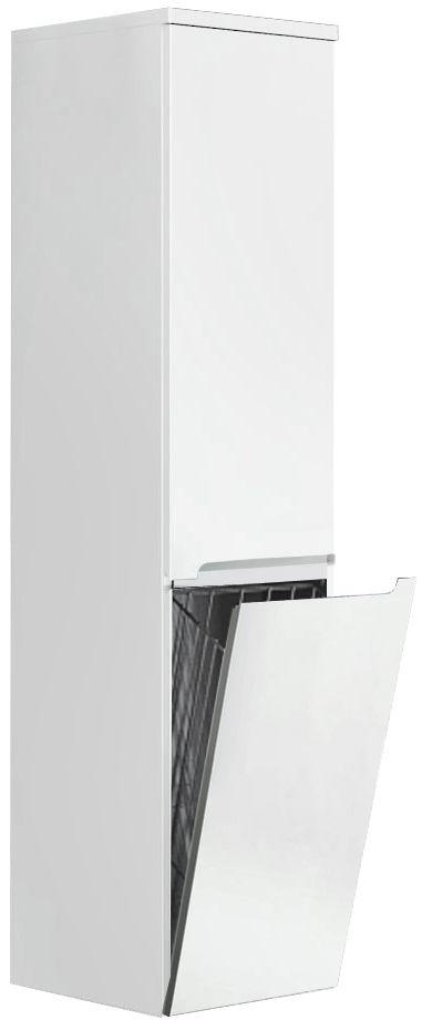 Oristo Silver szafka boczna wysoka z koszem lewa 35x144x35cm biały połysk OR33-SB2D-35-1-KKL