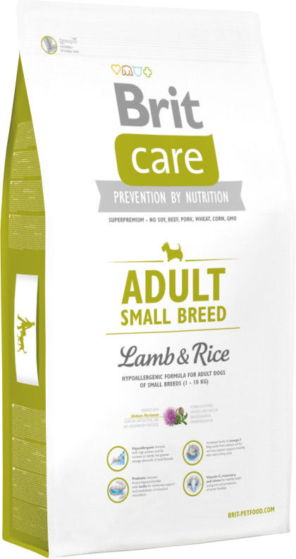 BRIT CARE Adult Small Breed Lamb & Rice 3kg