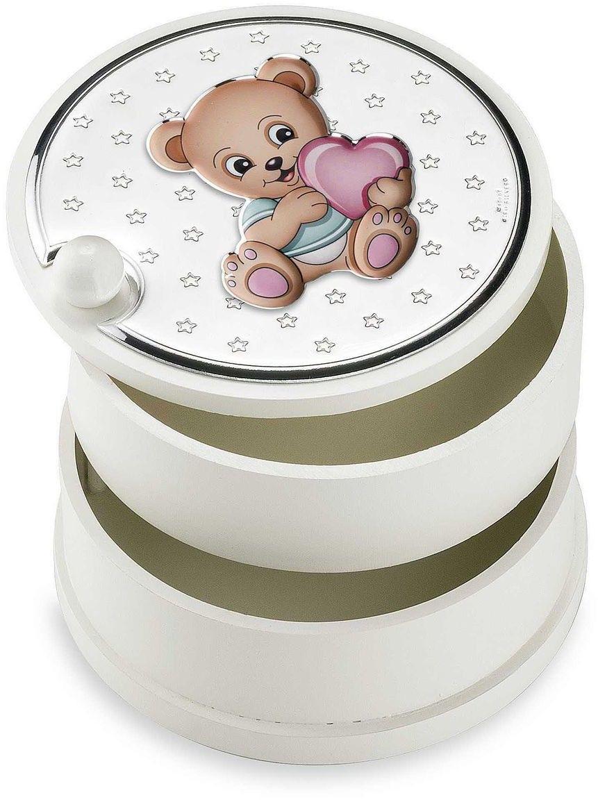 Szkatułka dziecięca Rozmiar: Fi 12 cm H9 cm Kolor: Różowy SKU: VL75110R