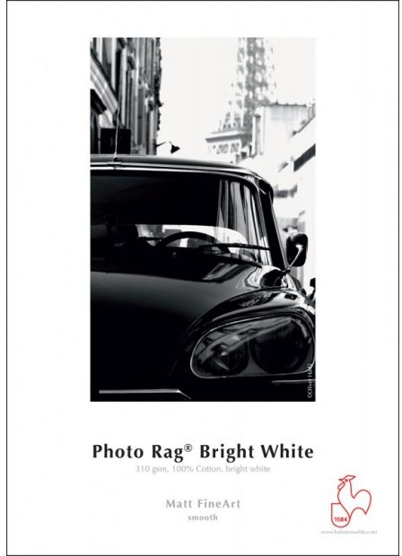 Papier HAHNEMUHLE PHOTO RAG BRIGHT WHITE 310gsm A2 (25 arkuszy) (10641620)