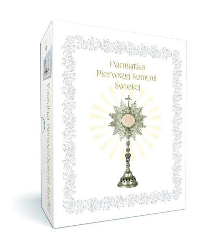 Pakiet: Pamiątka Komunii Świętej z ramką ZAKŁADKA DO KSIĄŻEK GRATIS DO KAŻDEGO ZAMÓWIENIA