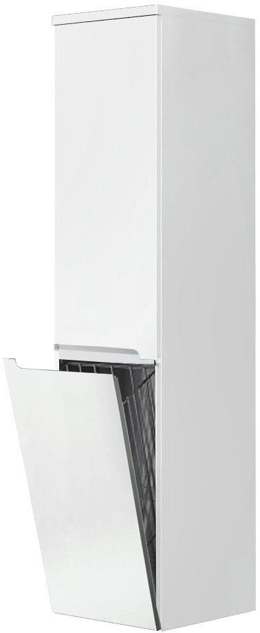 Oristo Silver szafka boczna wysoka z koszem prawa 35x144x35cm biały połysk OR33-SB2D-35-1-KKP