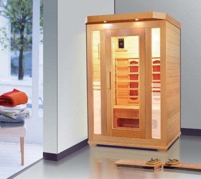 CARMEN Sauna na podczerwień 2-osobowa 124x116 cm 60615