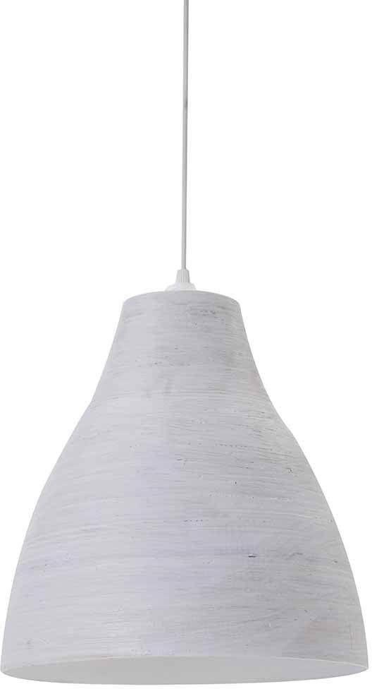 Lussiol 250338 wisząca lampa, bambusowa, biała, średnica 30 x wysokość 33 cm
