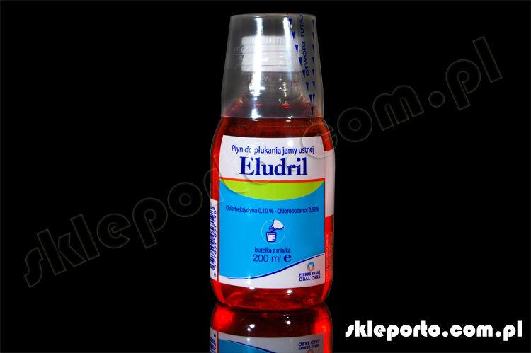 Eludril 200 ml płyn antybakteryjny z chlorheksydyną - higiena ortodontyczna
