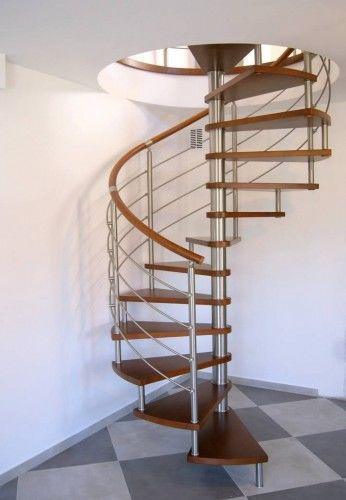 Schody spiralne CORA model Bawaria vertical ø 120 cm