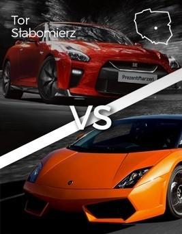 Jazda Lamborghini Gallardo vs Nissan GT-R  Tor Słabomierz