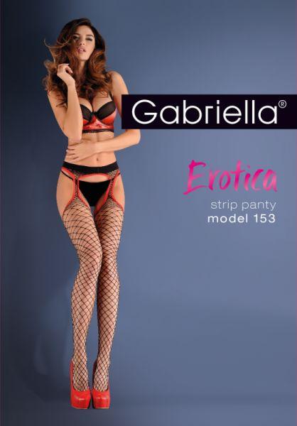 Bielizna-Rajstopy Strip Panty Kabaretka EROTICA STRIP PANTY 153 Czarne M/L