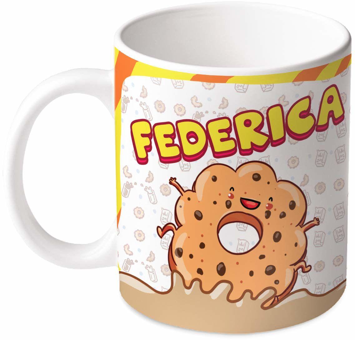 M.M. Group Filiżanka z imieniem i znaczeniem Federica, 30 ml, ceramika, wielokolorowa