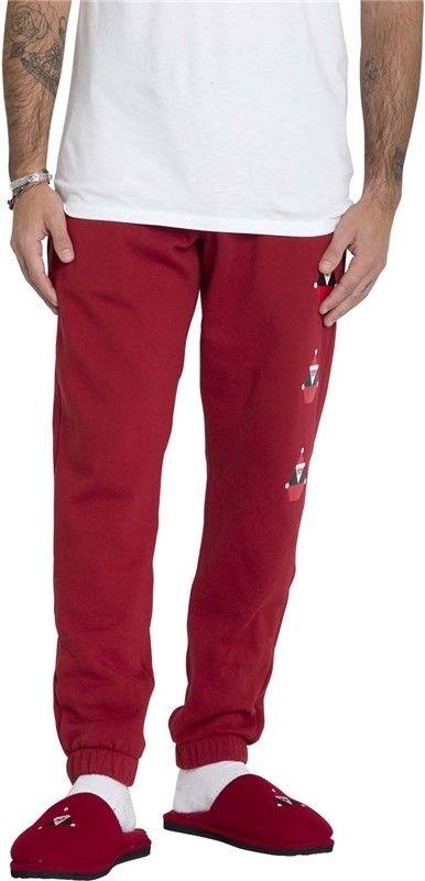 spodnie dresowe VOLCOM - Santastone Flc Pant Deep Red (DRE