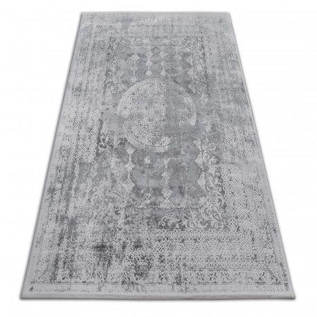Dywan AKRYL VALENCIA 2328 ORNAMENT ciemnoszary / kość słoniowa 80x150 cm