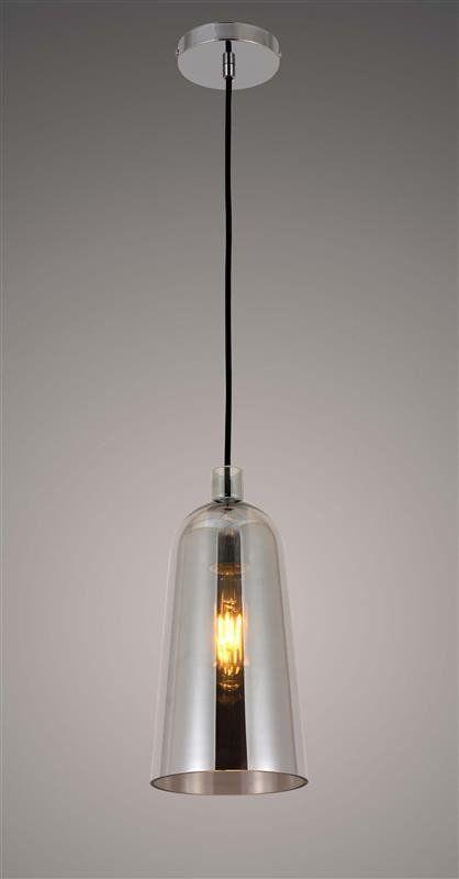Lumina Deco Nordica szklana nowoczesna szara lampa wisząca