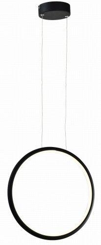 Lampa wisząca Ragi LED koło czarna