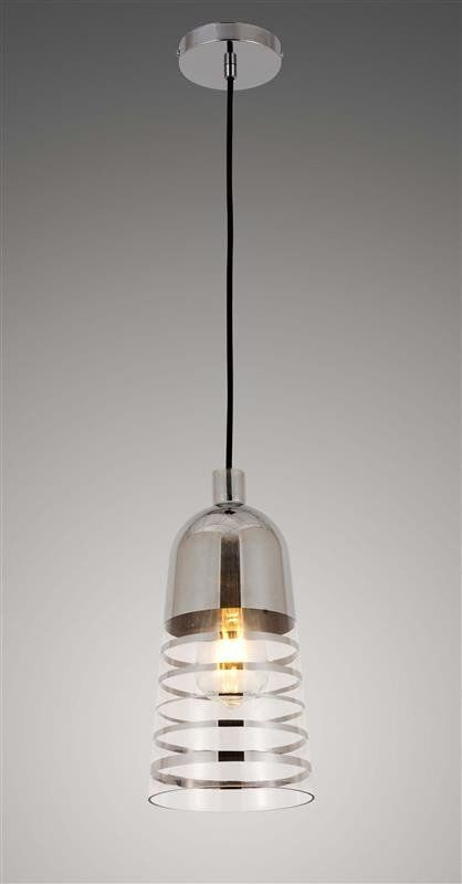 Lumina Deco Etrica szklana nowoczesna chromowana lampa wisząca