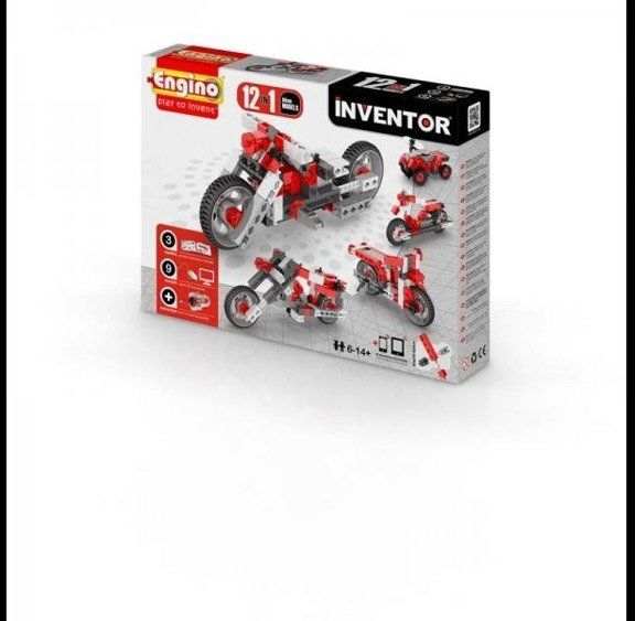 Inventor 12 models motorbikes - motory - Engino