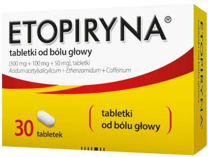 Etopiryna 300 mg + 100 mg + 50 mg 30 tabletek