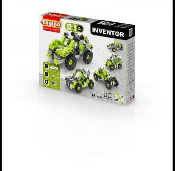 Inventor 12 models cars - samochody - Engino