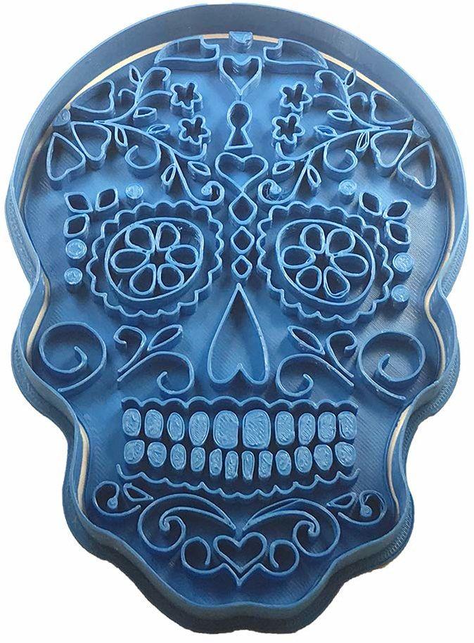 cuticuter Halloween trupia czaszka Meksykańska foremka do ciastek, niebieska, 20 x 9 x 1,5 cm