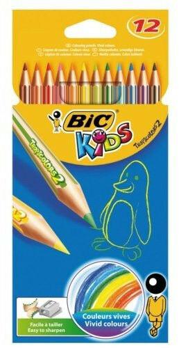 Kredki ołówkowe BIC 832566 Tropicolors 12 kolorów