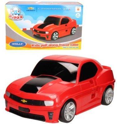 Chevrolet Camaro - czerwony - Walizka samochód Welly Ridaz