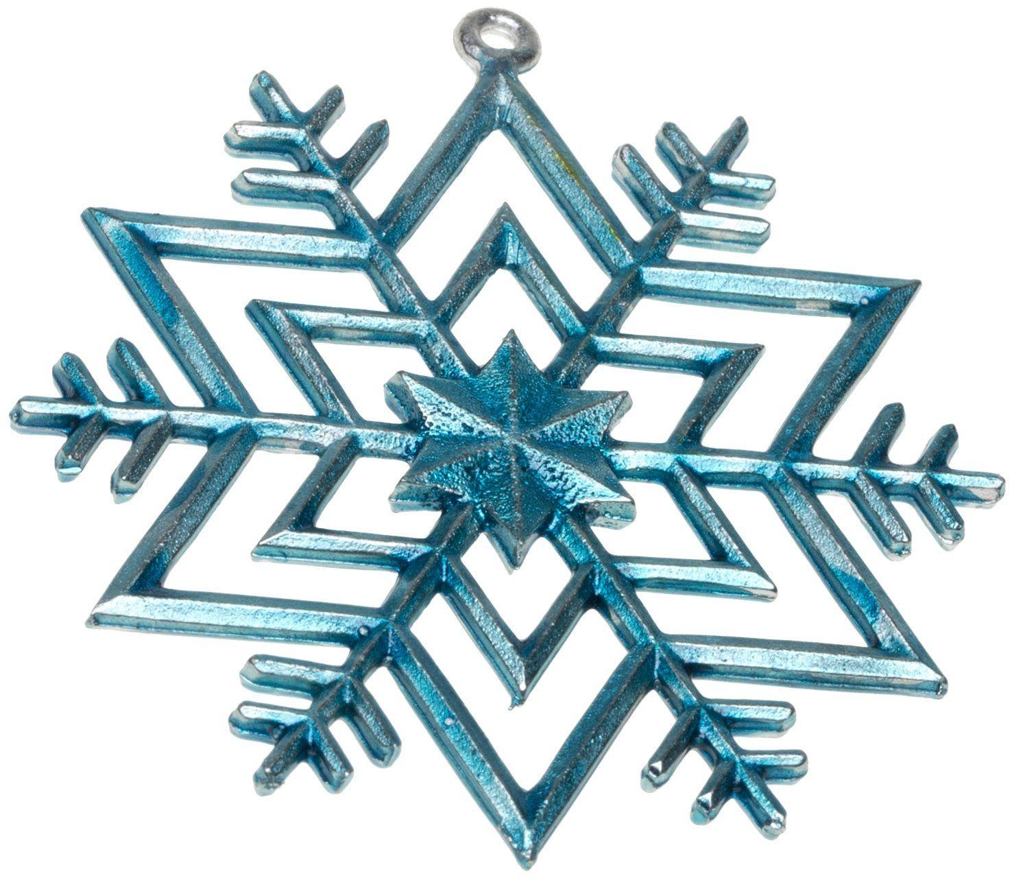Dziób cyna gwiazda zawieszka bożonarodzeniowa kolorowa, niebieska