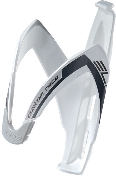 Elite koszyk na bidon rowerowy Custom Race Biały-Czarne Logo EL0061681 SS19,8020775016909