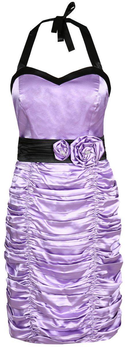 Sukienka FSU190 FIOLETOWY