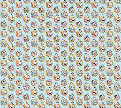 AG Design FCSXL 4362 Tenda Principesse e Cavalli Disney księżniczki, pokój dziecięcy, firanka/zasłona, 180 x 160 cm, 2 (1 część: 90 x 160 cm), tkanina, wielokolorowa, 0,1 x 180 x 160 cm