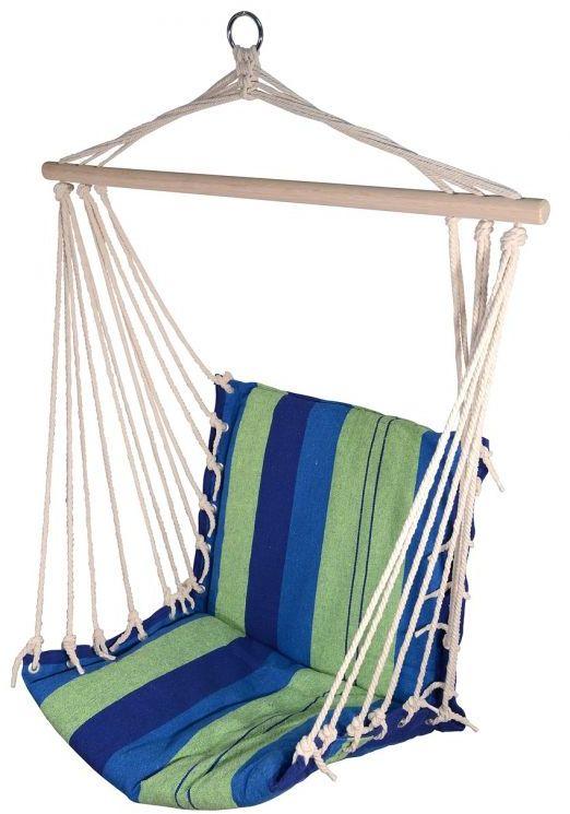 Hamak do siedzenia 95x50 cm niebiesko-zielona