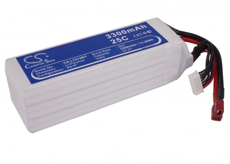 3300mAh 73.26Wh Li-Polymer 22.2V 6S 25C (Cameron Sino)