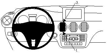 ProClip do Mercedes Benz A Klasa 13-18