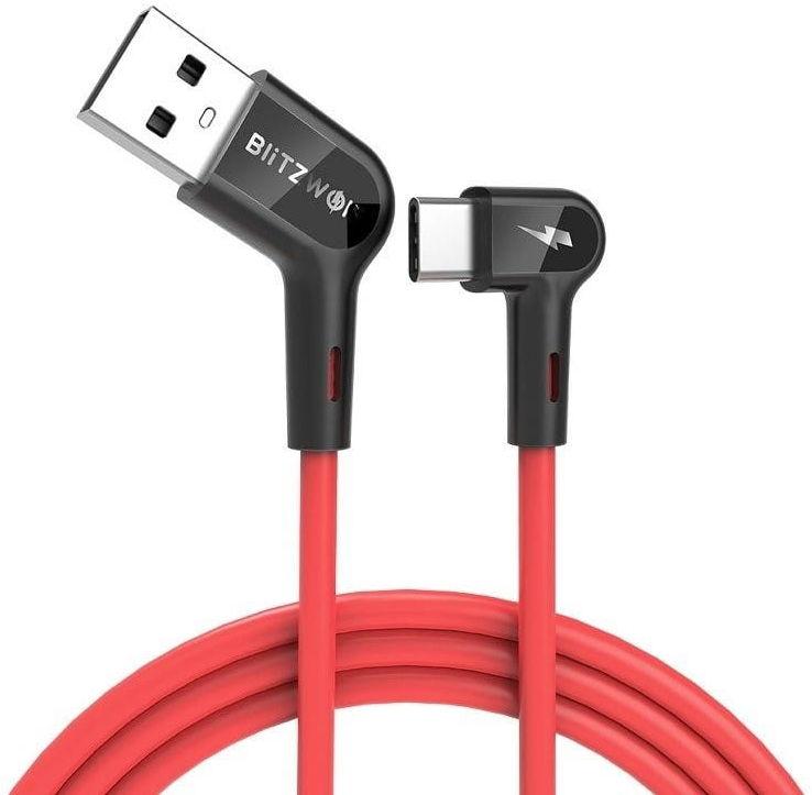 Kątowy kabel USB-C BlitzWolf BW-AC1 3A 0,9m