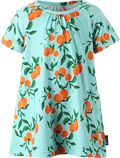 Reima Dziewczęca sukienka Propelli dziewczynka sukienka turkusowy turkusowy 104