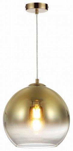 Lampa wisząca CASTILO złote szkło