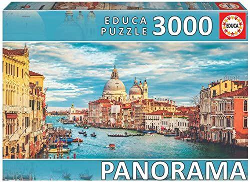 Educa 19053, Wenecja, 3000 części panoramiczne puzzle dla dorosłych i dzieci od 14 lat, Włochy