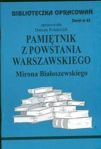 Biblioteczka opracowań nr 063 Pamiętnik z powst... - Danuta Polańczyk