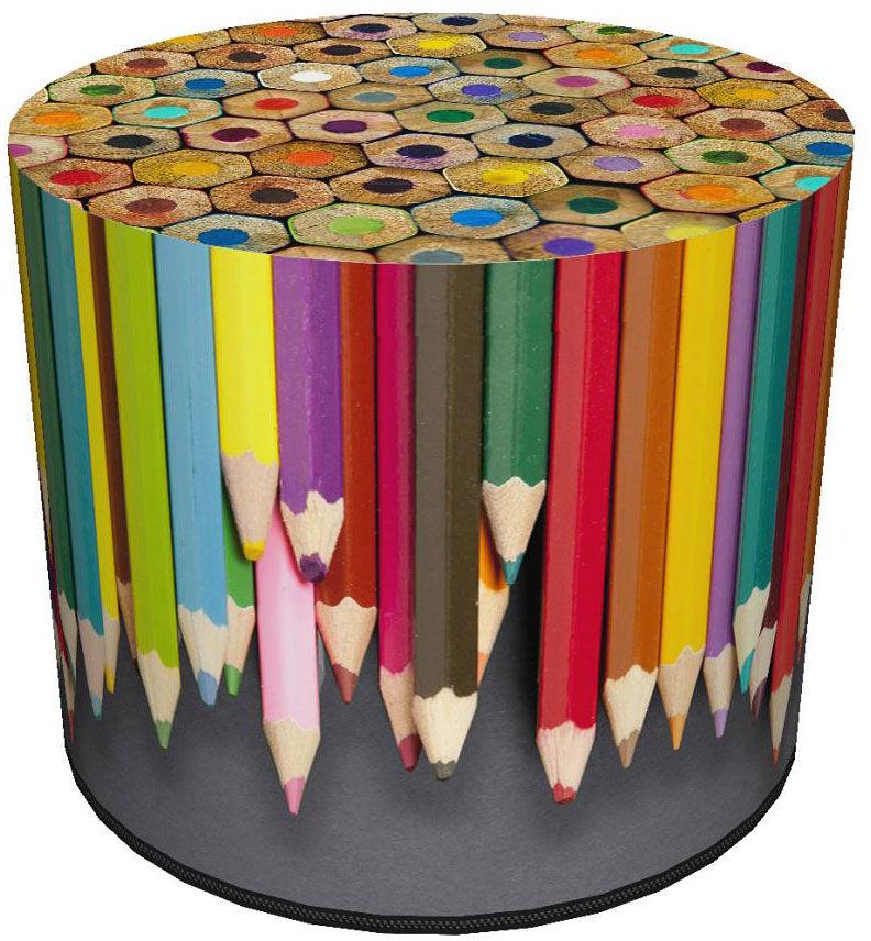 Okrągła kolorowa pufa dziecięca 8 wzorów - Basti