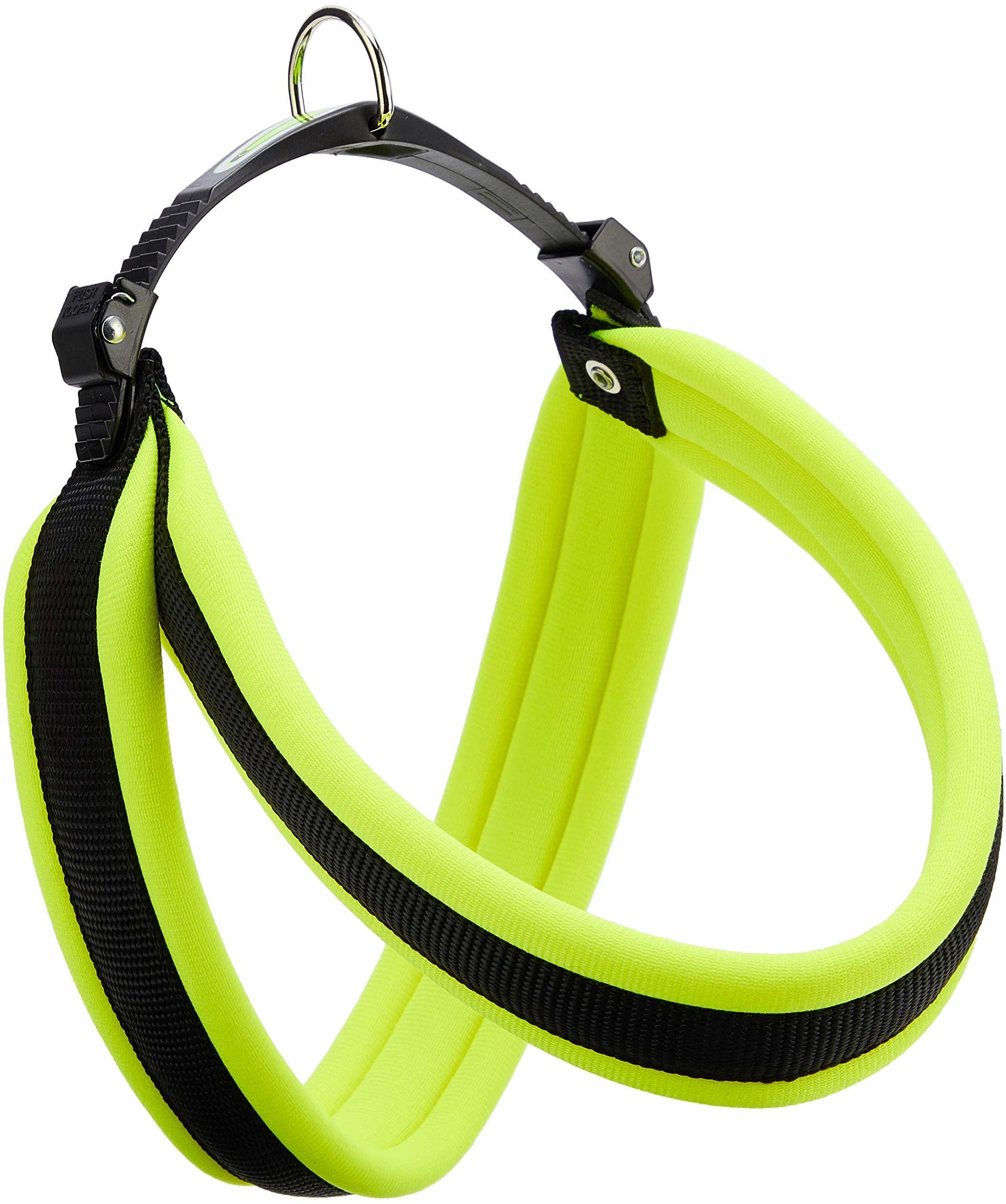 Ferplast 75449528 uprząż dla psa Agila Ergofluo 5, obwód szyi/obwód klatki piersiowej: 50-58 cm, szerokość: 2,0 cm, zielona