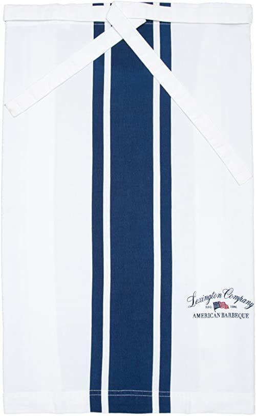 Lexington Company fartuch w paski rozmiar uniwersalny biały/niebieski