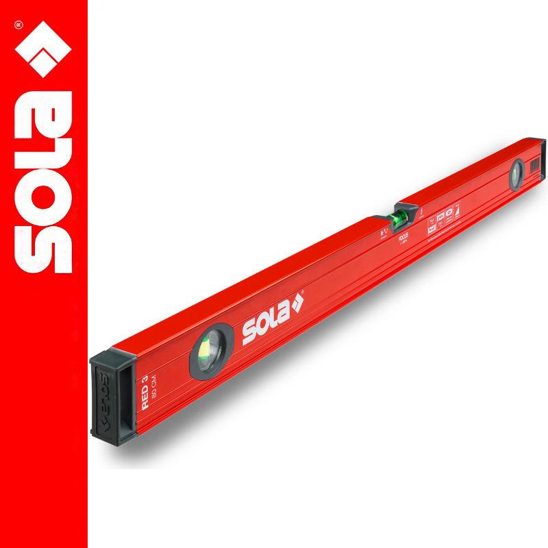 Poziomica aluminiowa 80cm RED 3 SOLA