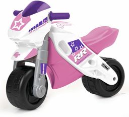 FEBER Famosa 800008174 MotoFEBER Racing rowerki biegowe z kaskiem, dla dziewczynek od 18 miesięcy do 3 lat, fioletowe