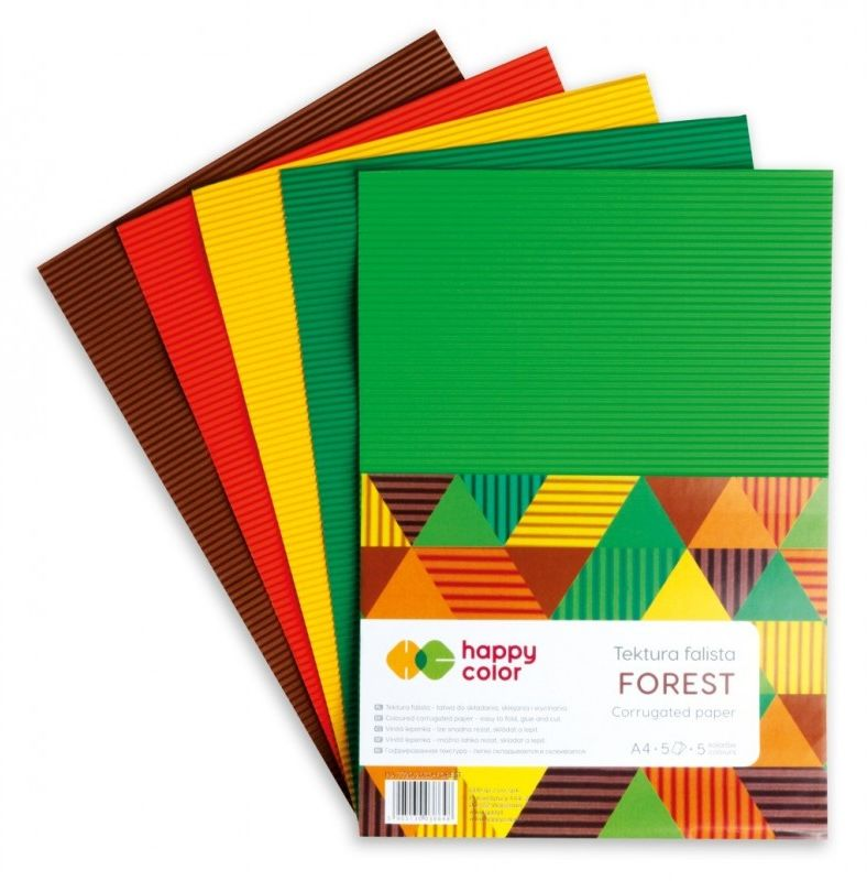 Tektura falista Happy Color A4 5 ark Forest HA 7720 2030 FOREST