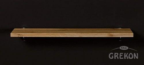 Półka łazienkowa FOKUS 60cm + wsporniki, kolor dębu, Gante