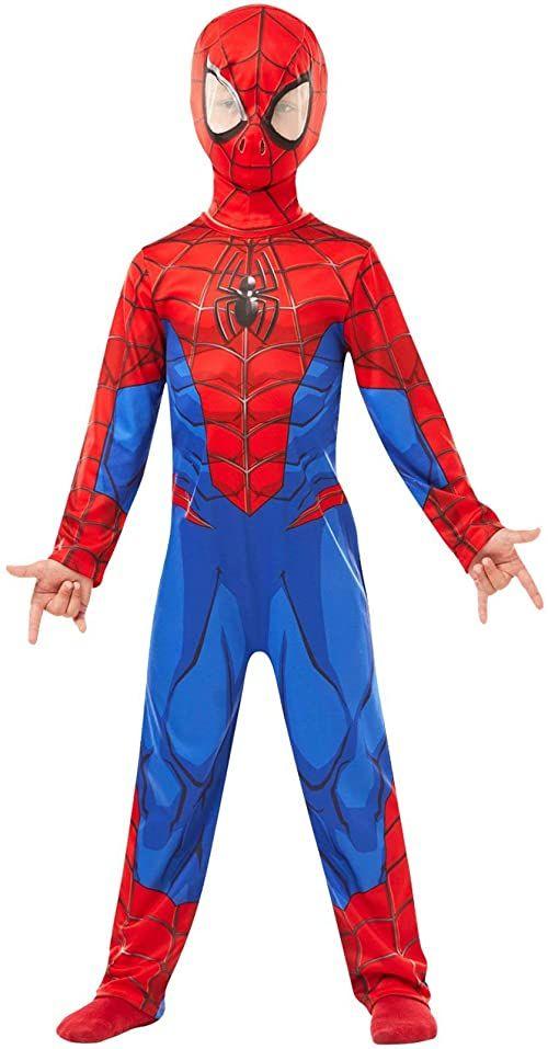 RUBIE''S Klasyczny kostium dziecięcy Marvel Spider-Man, niebiesko-czerwony, XL (9-10 lat / 140 cm)