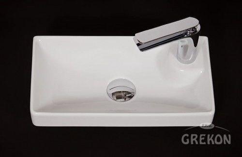Umywalka ceramiczna Ventidue 40cm biała, Gante