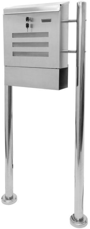 Skrzynka na listy stojąca ze stali nierdzewnej 120 cm