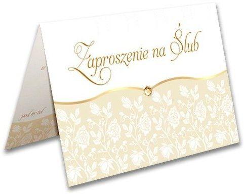 Zaproszenie ślubne z kopertą Ornament zx9400