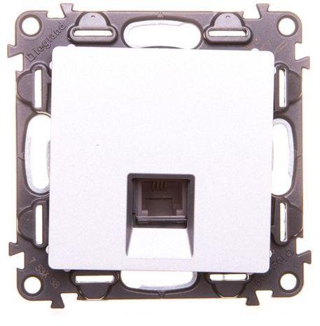 VALENA LIFE Gniazdo telefoniczne pojedyncze RJ11 aluminium 753338